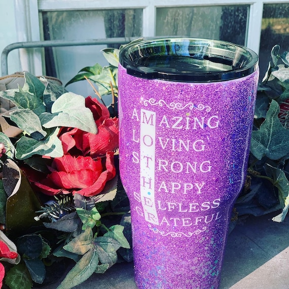 Mother Glitter Tumbler, Glitter Tumbler Personalized, Tumbler