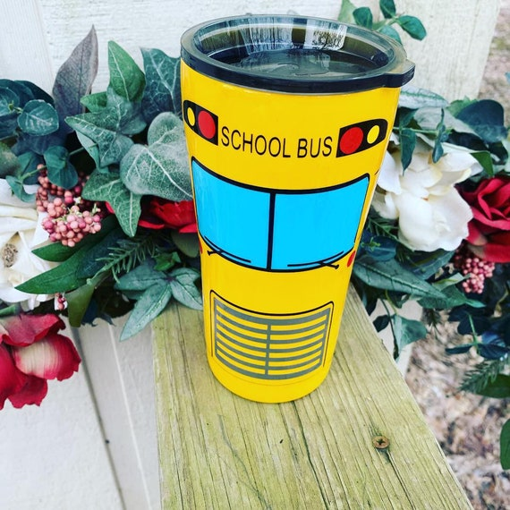School Bus Tumbler, Father's Gift, Bus Driver Gift, Tumbler