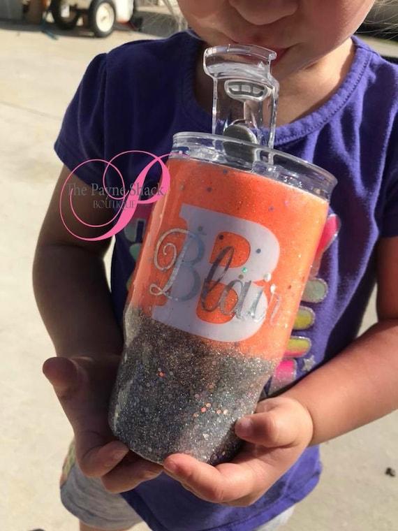 Kids Glitter Tumbler, Personalized Toddler Gift, Tumbler