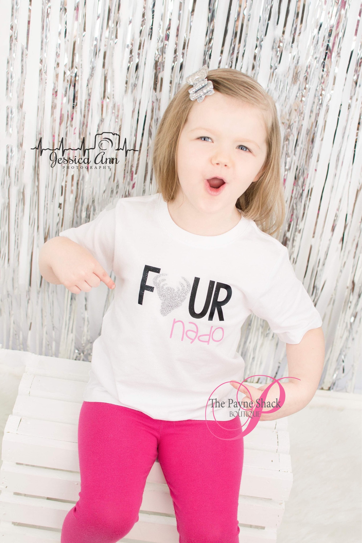 Fourth Birthday Four Nado Shirt Forth Toddler T Shit Boy Or Girl Vinyl 4th