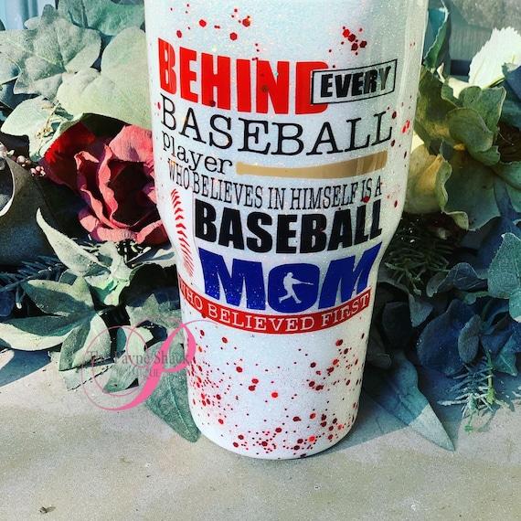 Baseball Mom Tumbler,  Glitter Tumbler Personalized