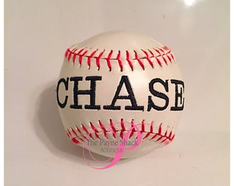 Embroidered Baseball, Personalized Baseball, Birth Announcement Baseball, Custom Baseball