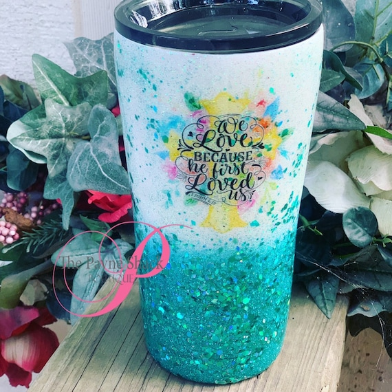 Glitter Cup, Glitter Tumbler Personalized, Her Children Rise Up and Call Her Blessed, Tumbler