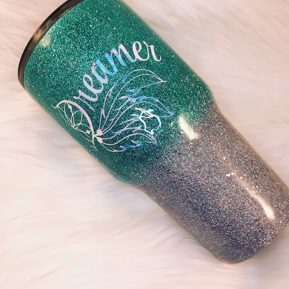 Ombre Glitter Tumbler, Glitter Tumbler Personalized, Tumbler