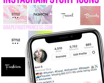 Custom Instagram Story Covers & Icons