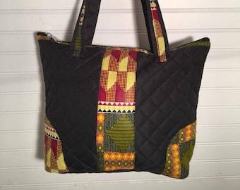 African Quilted Shoulder Bag