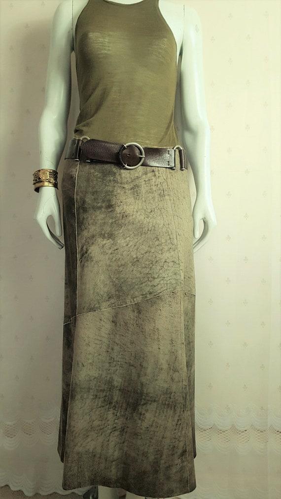 PAG Pier Antonio Gasparai Leather Panel Skirt - UK