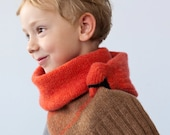 Bird scarf- Red cardinal for kids- Present for children