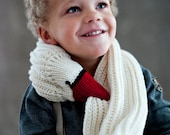 Chunky Knitted Birdy Scarf for Kids