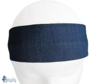 Jean Denim Headband - Jean Denim Bandana - Denim Hair Bandeau - Denim Headband - Jean Bandana - Jean Bandeau - Women - Teens - by Sheylily