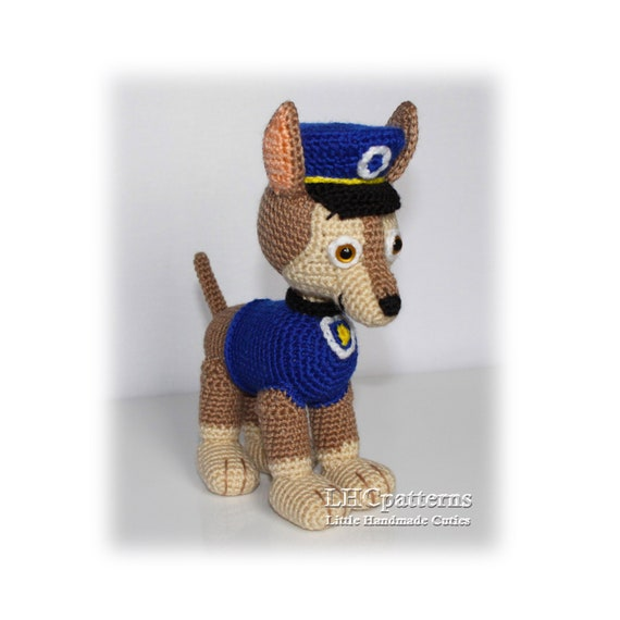 Blue Puppy Crochet Pattern Chase Inspired Pup Paw Patrol   Etsy