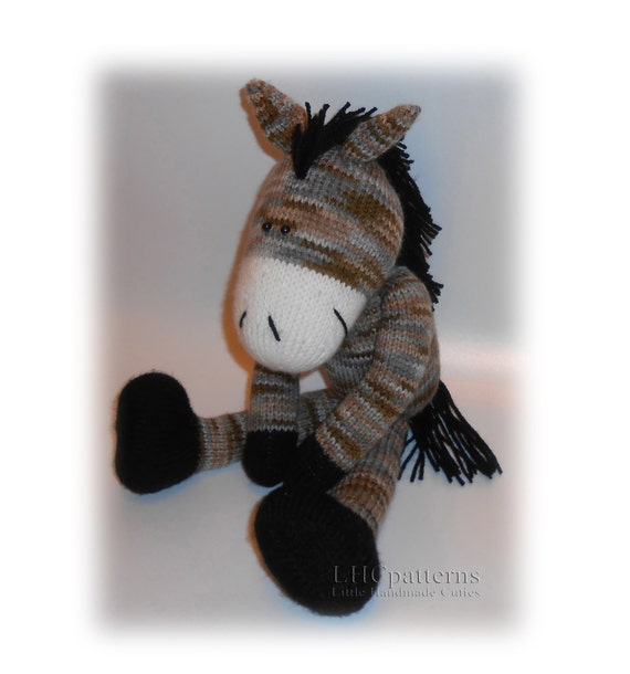 Horse Knitted Toy Pattern Knitted Horse Pdf Tutorial Diy Etsy