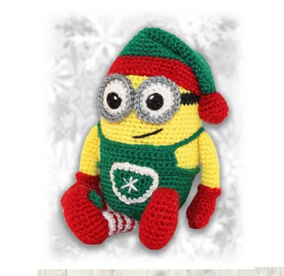 Minion Christmas.Minion Christmas Elf Crochet Pattern Crochet Christmas Elf Crochet Minion Minion Crochet Pattern