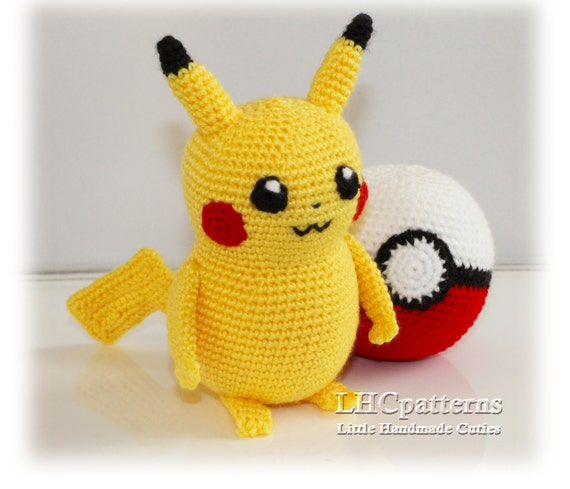 Crochet Pikachu Pokemon Pattern Pokeball Crochet Pattern Etsy