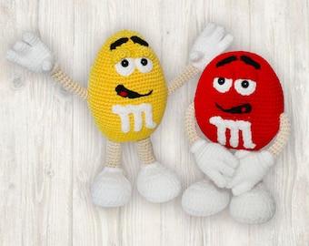 Crochet Candy Pattern, Sweets Crochet Pattern, Crochet M&M Pattern, M and M Crochet Pattern, MandMs PDF pattern