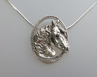 Frame horse pendant  STERLING SILVER pendant only Equestrian jewelry Zimmer original