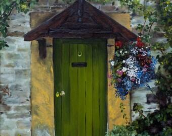 English Country Door fine art paper print 12 x 16