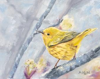 Warbler, Fine Art Paper Print 8 x 10