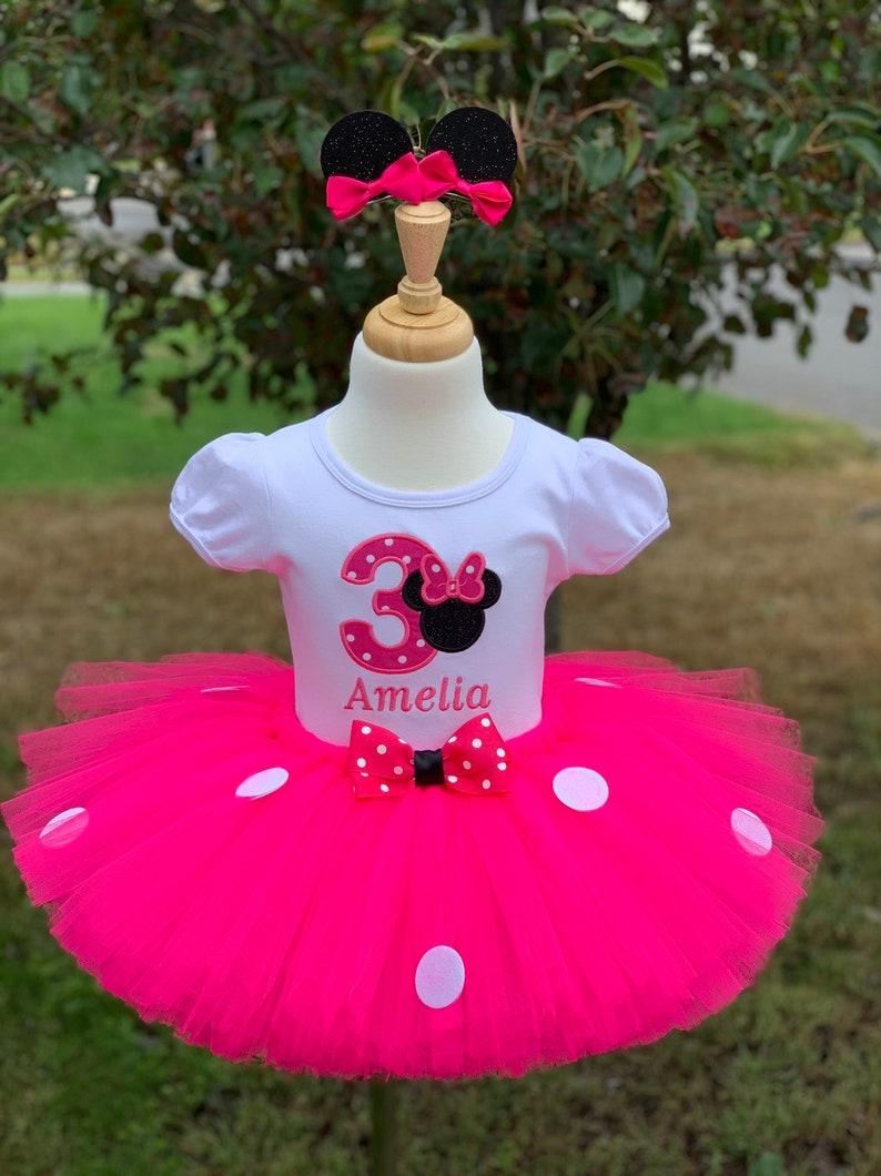 0c0c0ff64 Traje Minnie Mouse inspirado cumpleaños tutu de Minnie