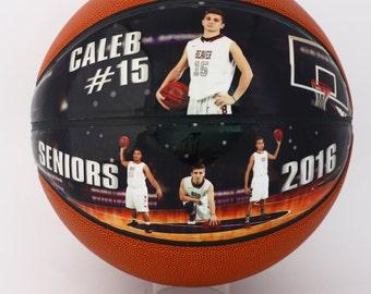 Custom Made Mini Basketball-The Perfect High School Senior Gift, Athletic Achievement Awards, Coaches Gift, Senior Night, Basketball Gift