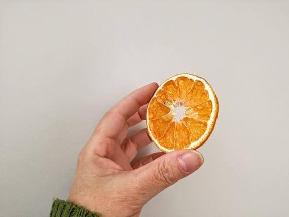 Orange slice supplies, real dried orange supplies, dried orange slices with holes in the middle, craft making orange slices, set of ten
