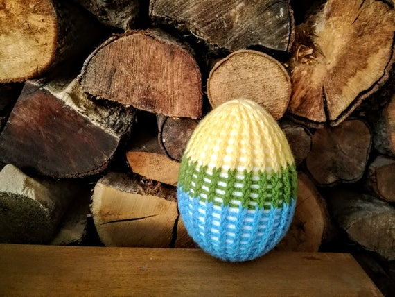 Crochet Easter egg, spring colours Easter egg, tricolor crochet egg, Easter decorations, Easter gifts, very large, Easter egg