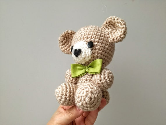 Amigurumi teddy bear, crochet stuffed plush teddy, handmade plush toys teddy bear, baby shower gift, cutest sitting teddy, toddlers gift