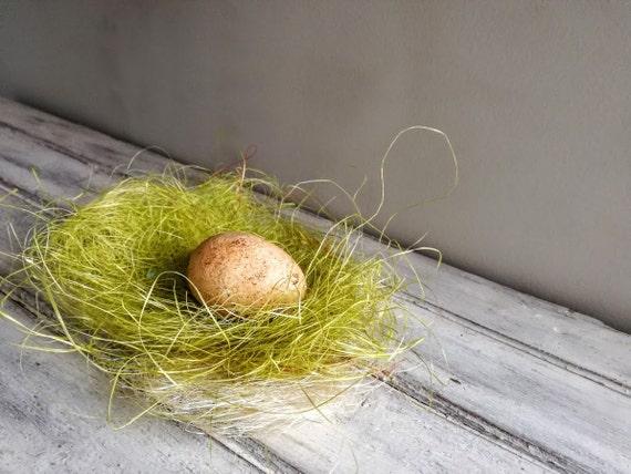 Tan Easter egg, solid ceramic Easter egg, apricot beige, splotched egg, Easter decor egg, small Easter egg, Greek Easter egg, natural egg