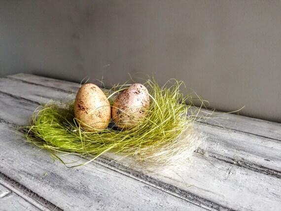 Beige Easter egg, solid ceramic Easter egg, pinkish beige, splotched egg, Easter decor egg, small Easter egg, Greek Easter egg, natural egg