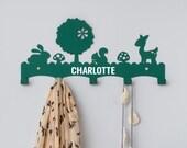 Personalised Woodland Coat Rack