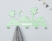 Personalised Dinosaurs coat rack