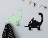Two Dino Metal wall hooks