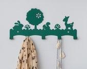 Forest animals coat rack