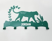 Personalised tiger wall rack