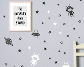 Space theme wall decalls