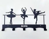 Personalised Ballet dancers wall hook