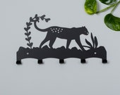 Leopard tiger jungle coat rack
