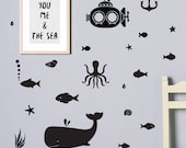 Sea world Decal / Vinyl Sticker / Laptop Stickers / Kids Wall Decal