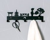 Japanese Doll | Japan Themed Coat Rack | Clothes Rack | Free Shipping | Kokeshi