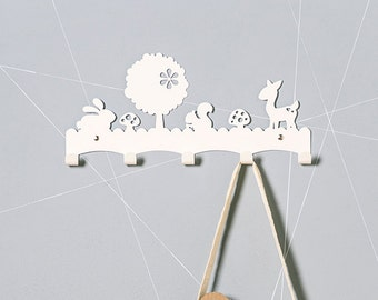 Woodland nursery clothes hook | Baby wall decor