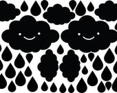 Sale - Cloud and drops Pattern Wall Decal