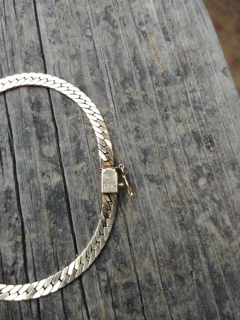 14K Yellow Gold Harringbone Bracelet
