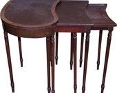 18286 Set of 3 Mahogany Nesting Tables