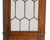 17314 Flame Mahogany Custom Corner China Cabinet
