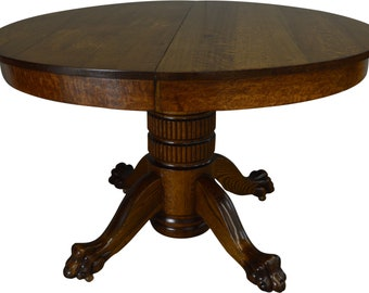 Claw Foot Table Etsy - Claw foot dining room table