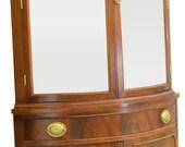 17394 Mahogany Curved Glass Corner China Cabinet