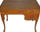 17625 Oak Art Nouveau Ladies Writing Desk