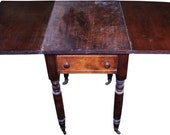 18276 Country Drop Leaf Stand with Drawer