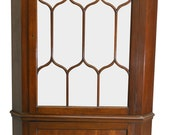 17315 Flame Mahogany Custom Corner China Cabinet