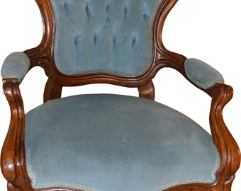 17197 Civil War Era Heavily Carved Gentleman's Chair